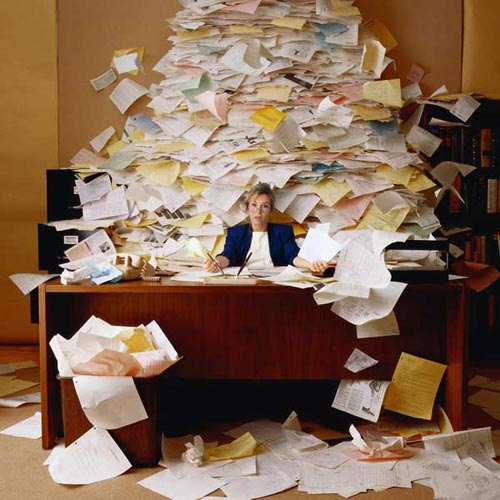buried in paperwork